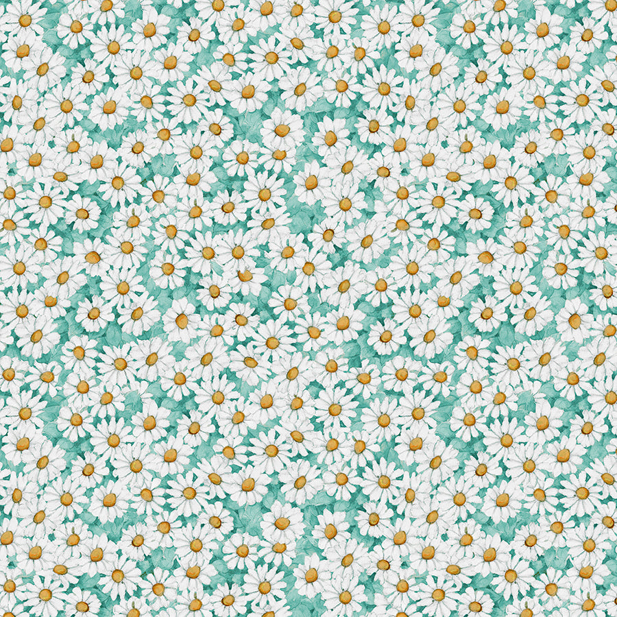 Savor the Gnoment Daisy All Over Teal