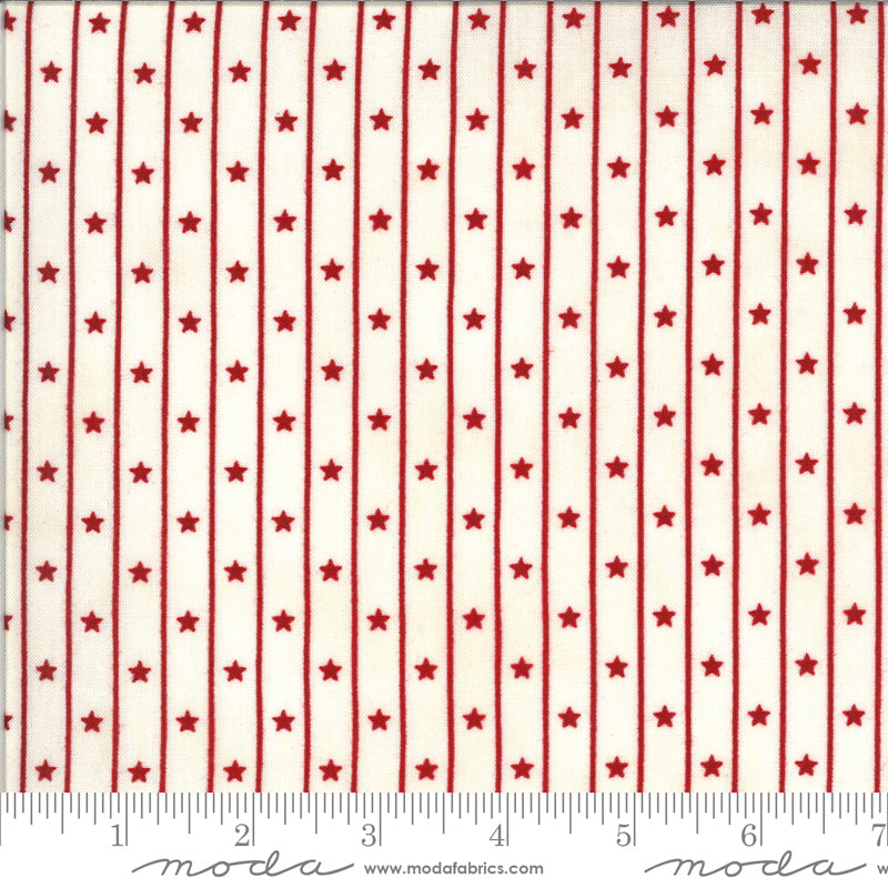American Gathering Star Row Cream Red