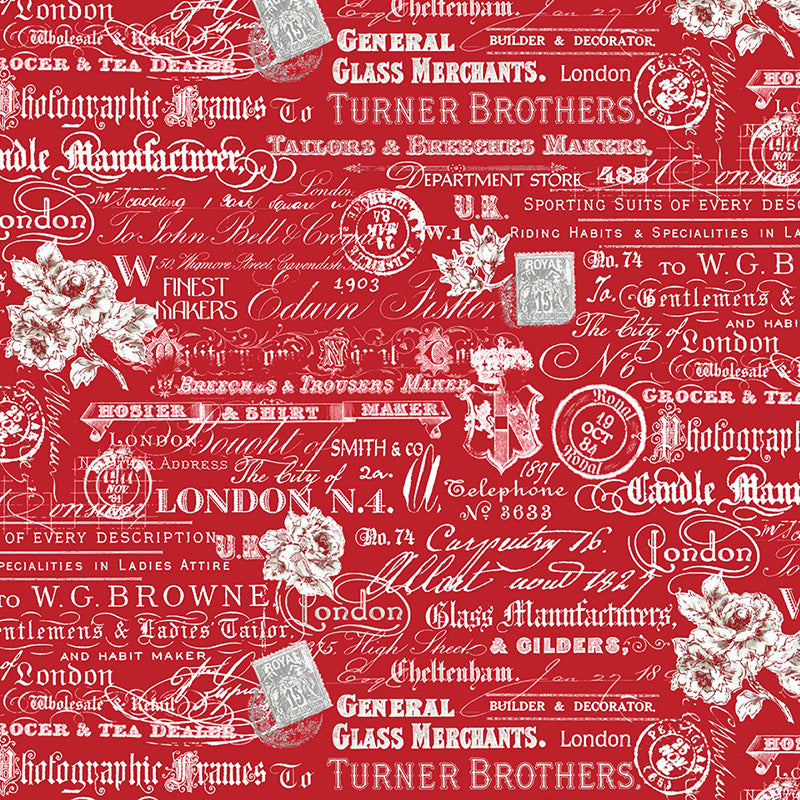 London Text Words Red