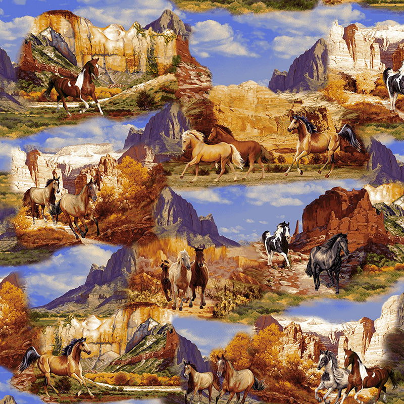 Wild Wild West Wild Horse Collage Sienna