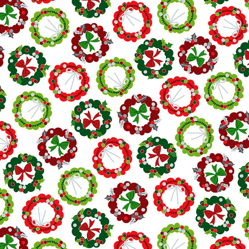 Camp Joy Holiday Wreaths White
