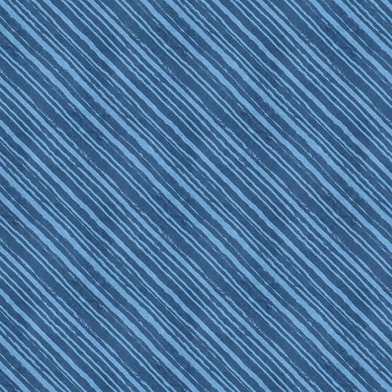 Summertime Diagonal Stripes Blue