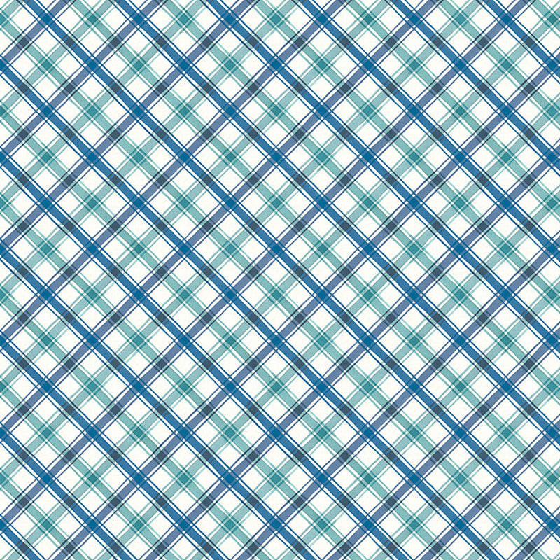 Roots of Love Plaid Ivory/Blue