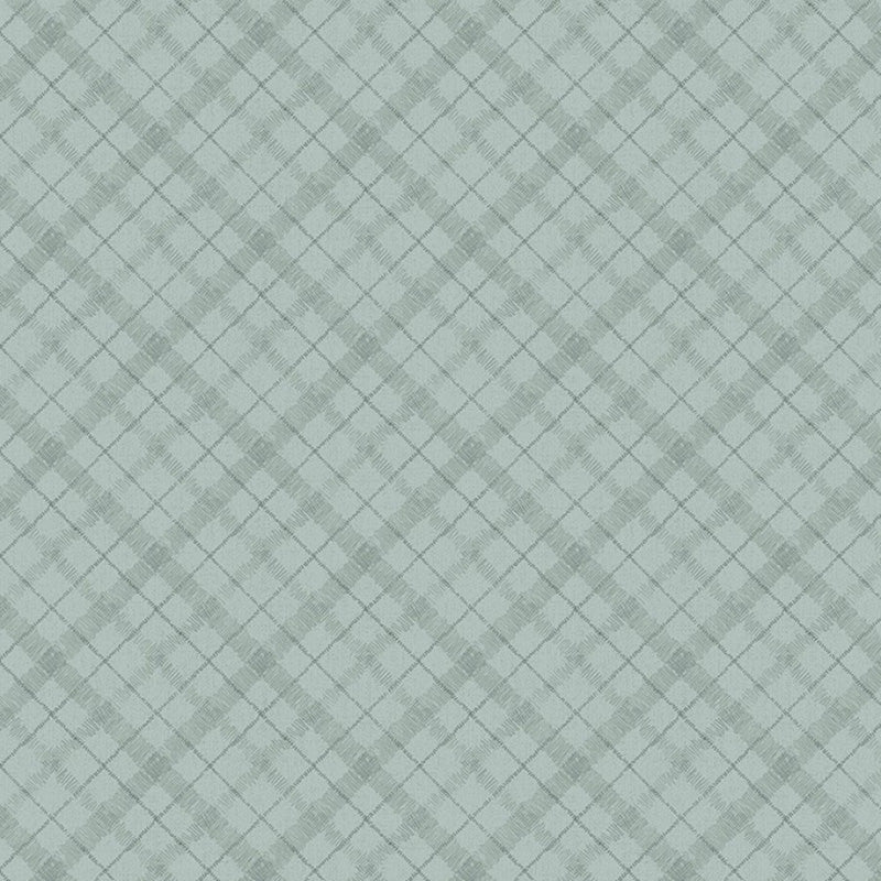 A Country Weekend Diagonal Plaid Gray/Green