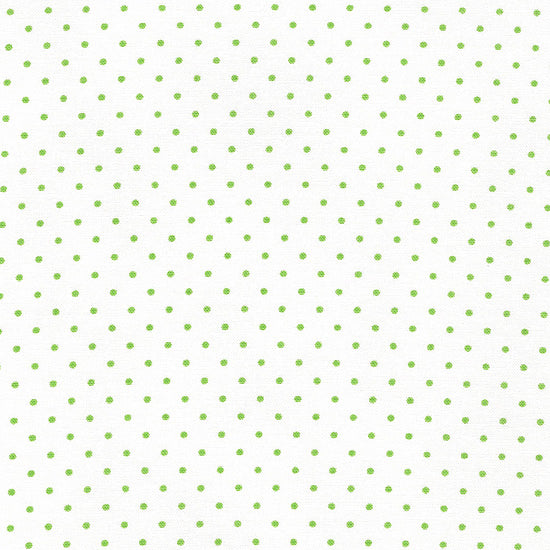 Moda ESSENTIAL DOTS White//Spring Green 8654 63 Fabric By The Yard