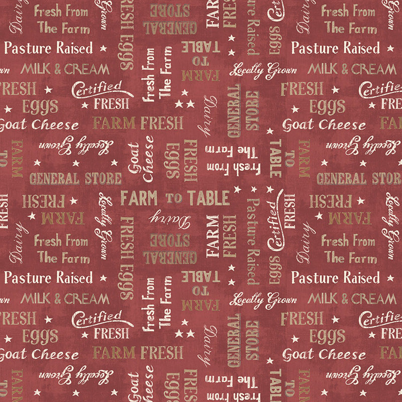 Farmhouse Chic Words Red