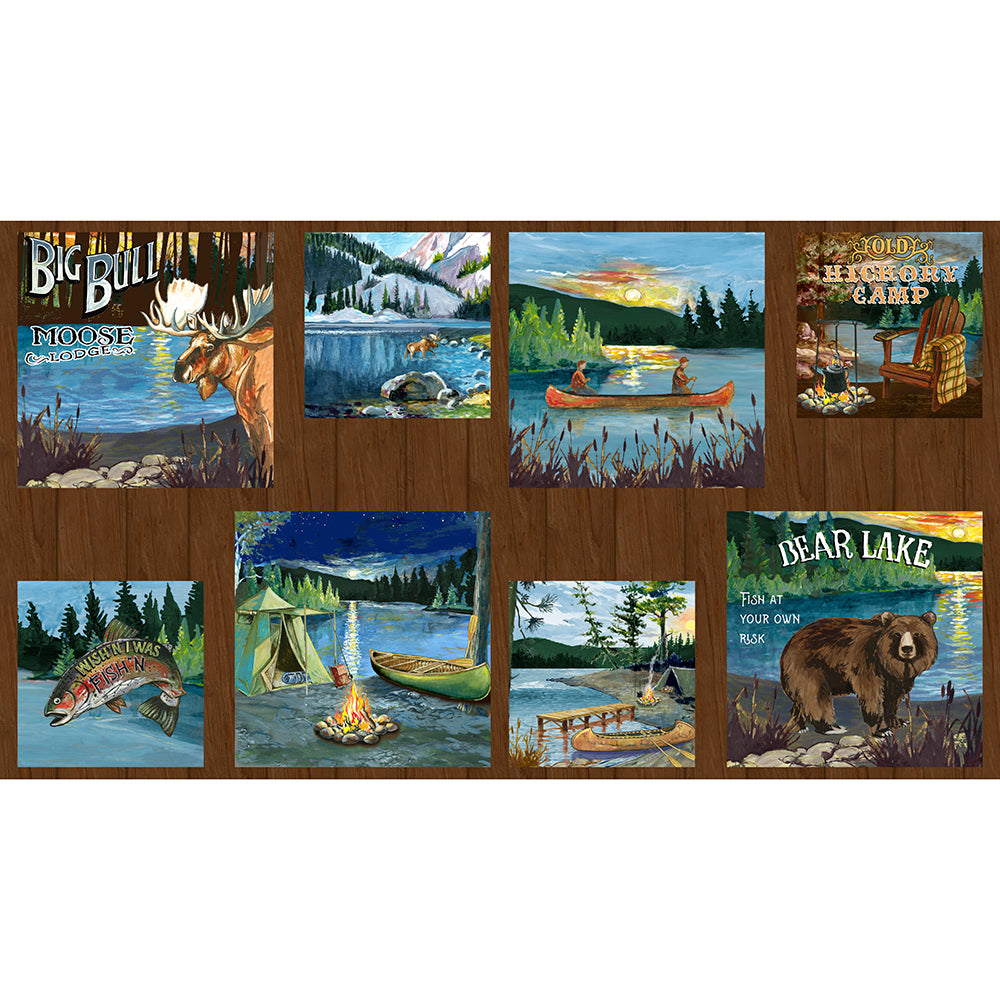 "Lake Adventure 24"" Craft Panel Multi"