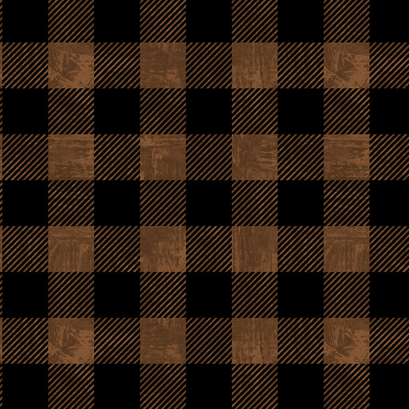 Lake Adventure Buffalo Plaid Brown