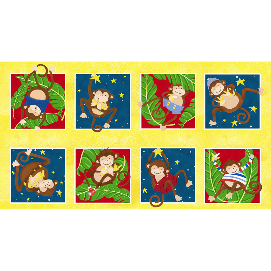 "Monkey Business 24"" Blocks Panel"