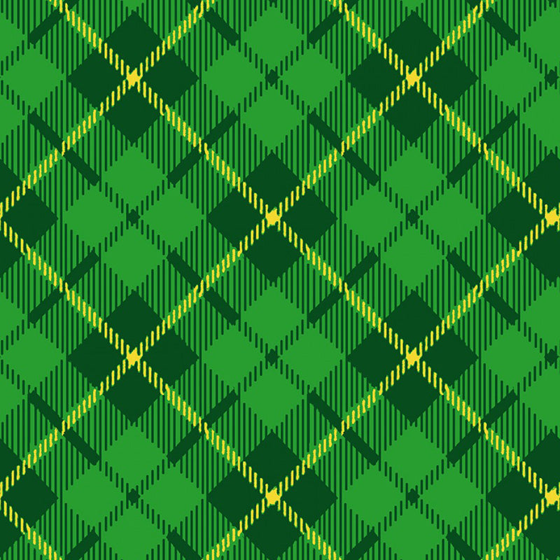 Pot of Gold Diagonal Plaid Green