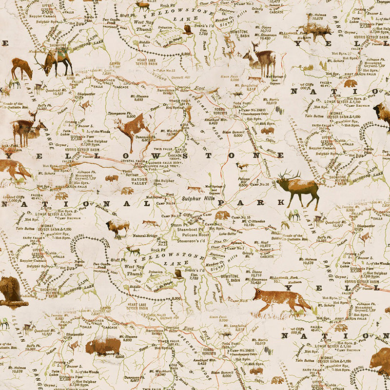 Yellowstone Map Cream