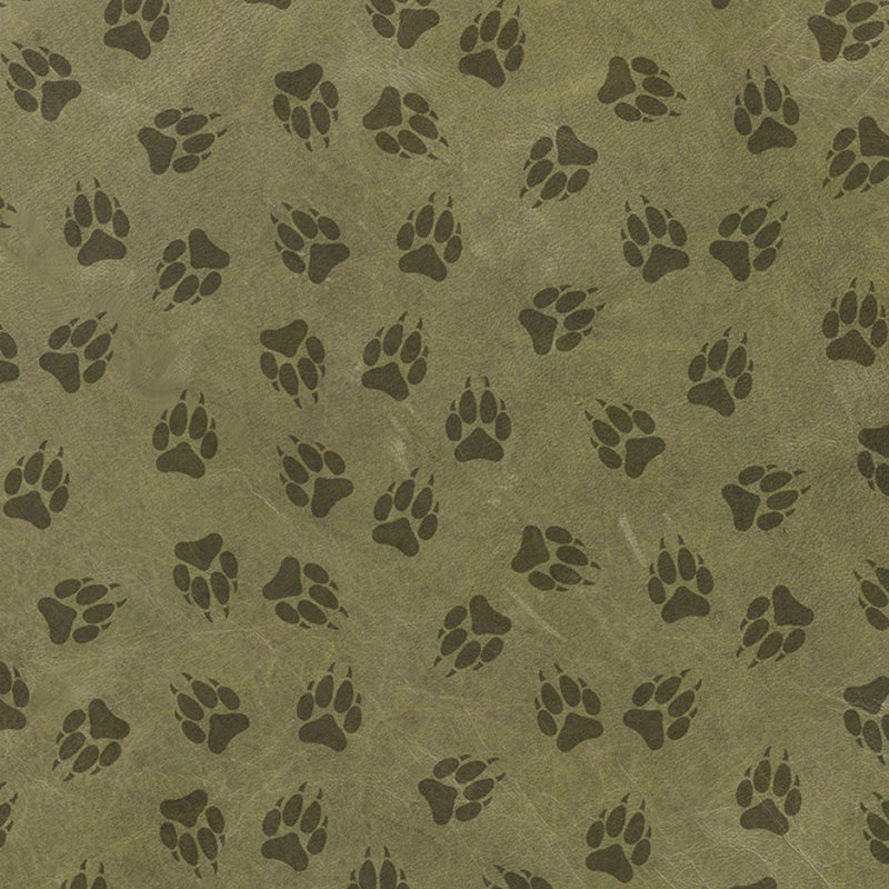 Yellowstone Paw Print Allover Green