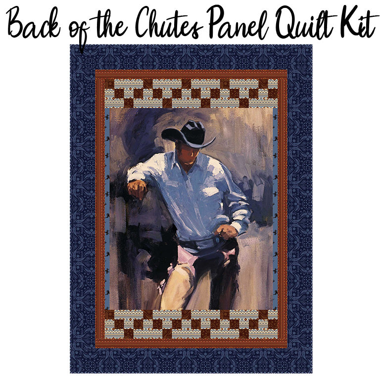 Back of the Chutes Panel Quilt Kit from Riley Blake
