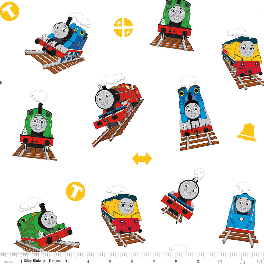 Thomas & Friends Main Print White