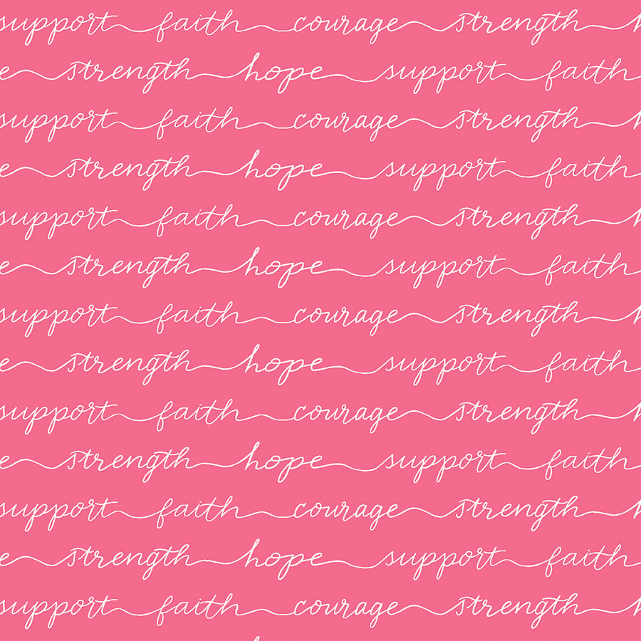 Hope in Bloom Words of Support Pink