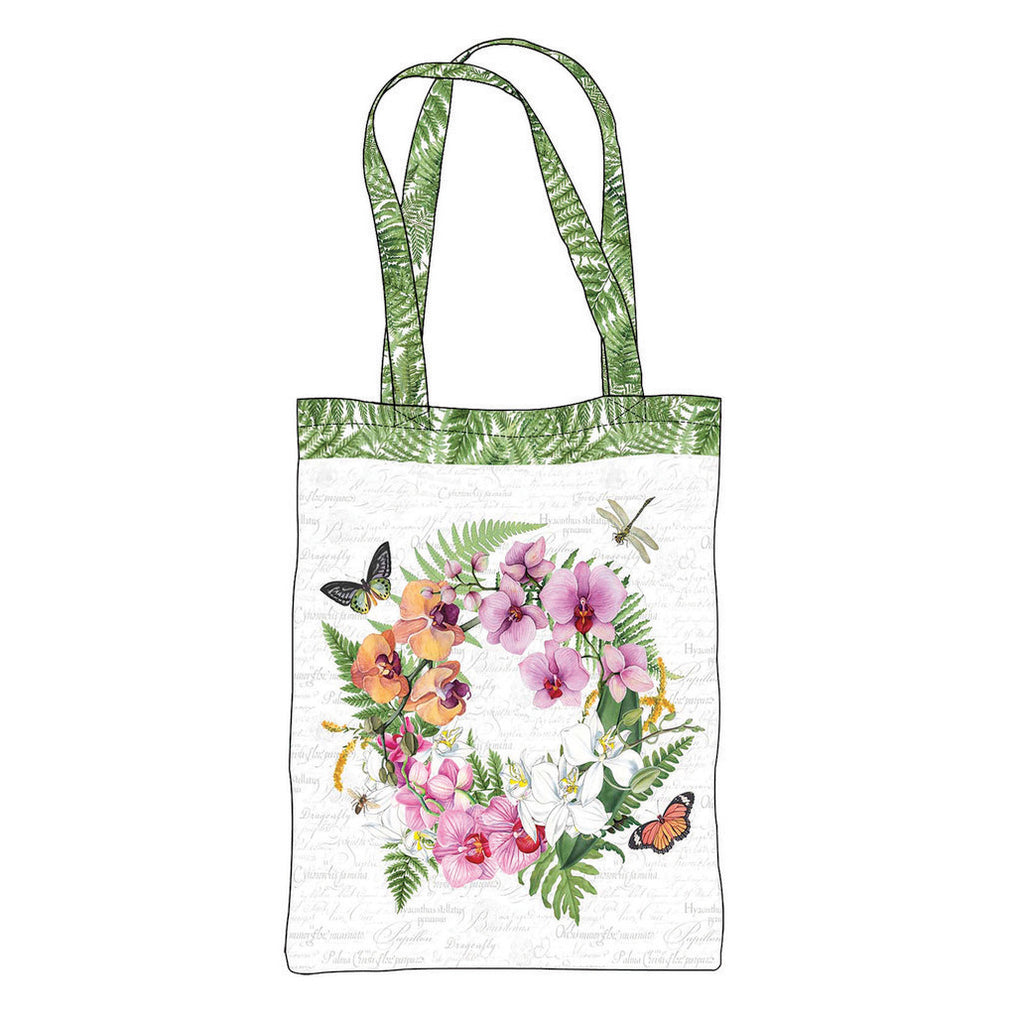 "Orchids in Bloom 24"" Canvas Bag Panel"