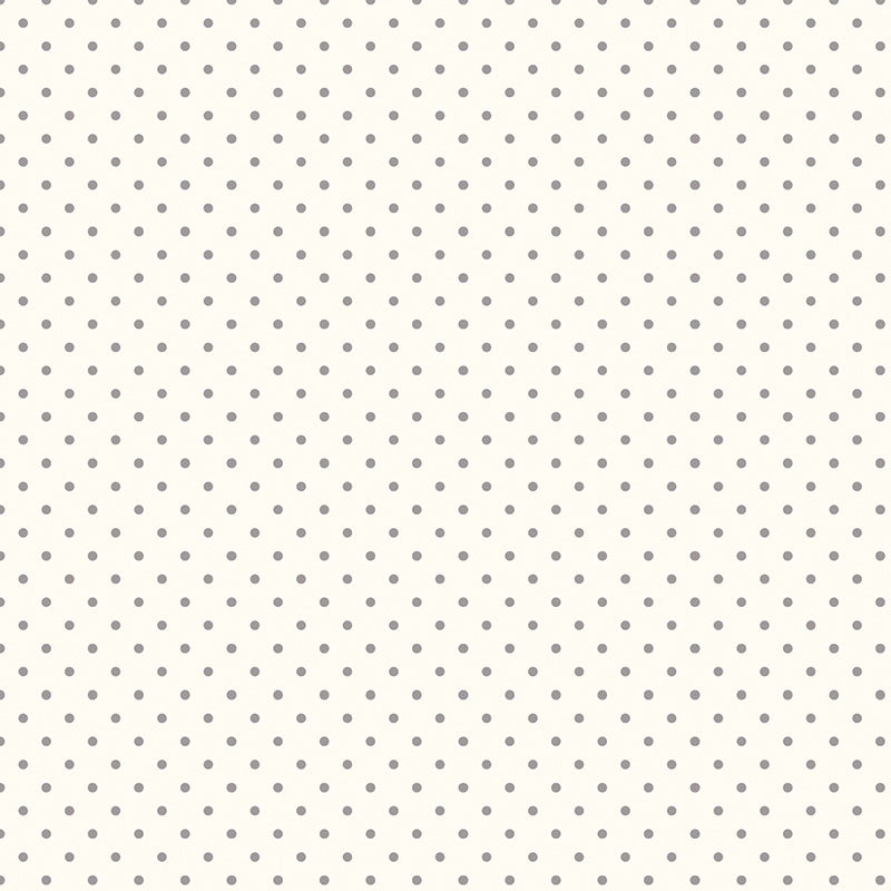 Le Creme Swiss Dots Gray