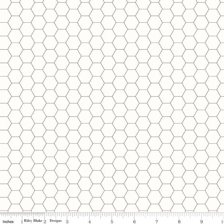 Bee Backgrounds Honeycomb Gray from Riley Blake