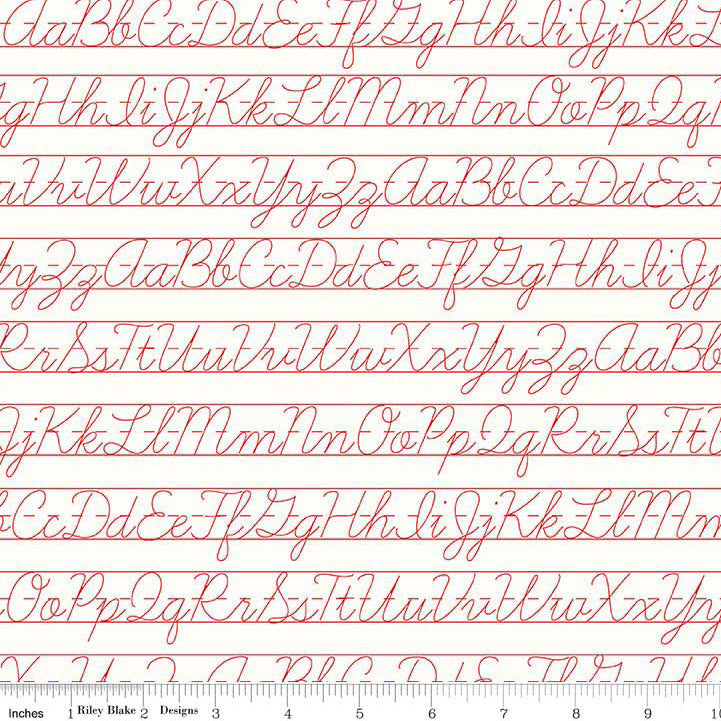 Bee Backgrounds Penmanship Red from Riley Blake