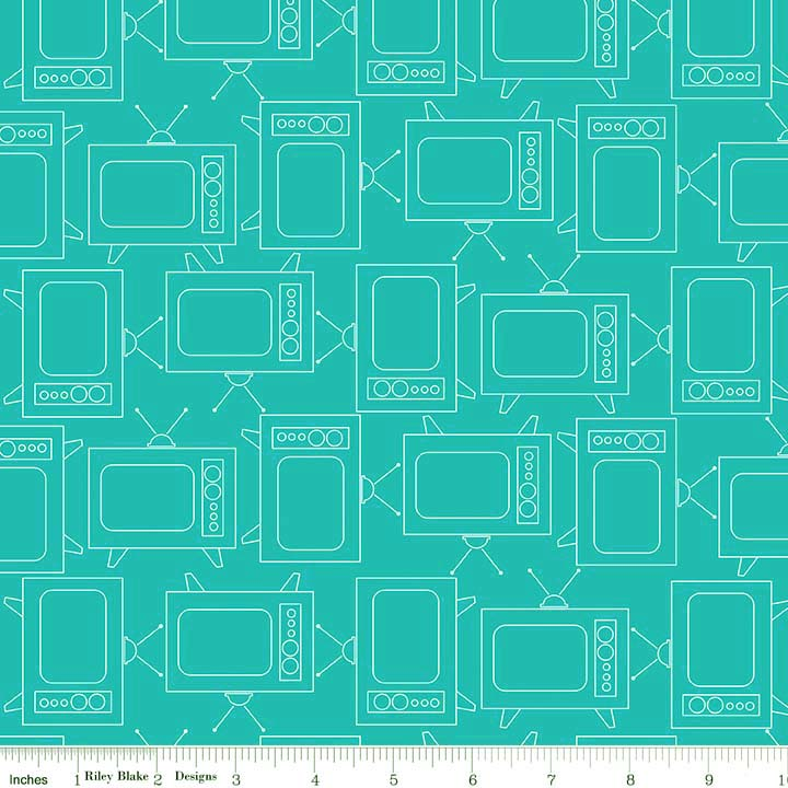 Bee Basics TV Turquoise from Riley Blake