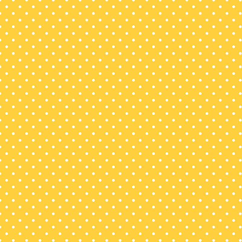 Swiss Dots Yellow With White Dots