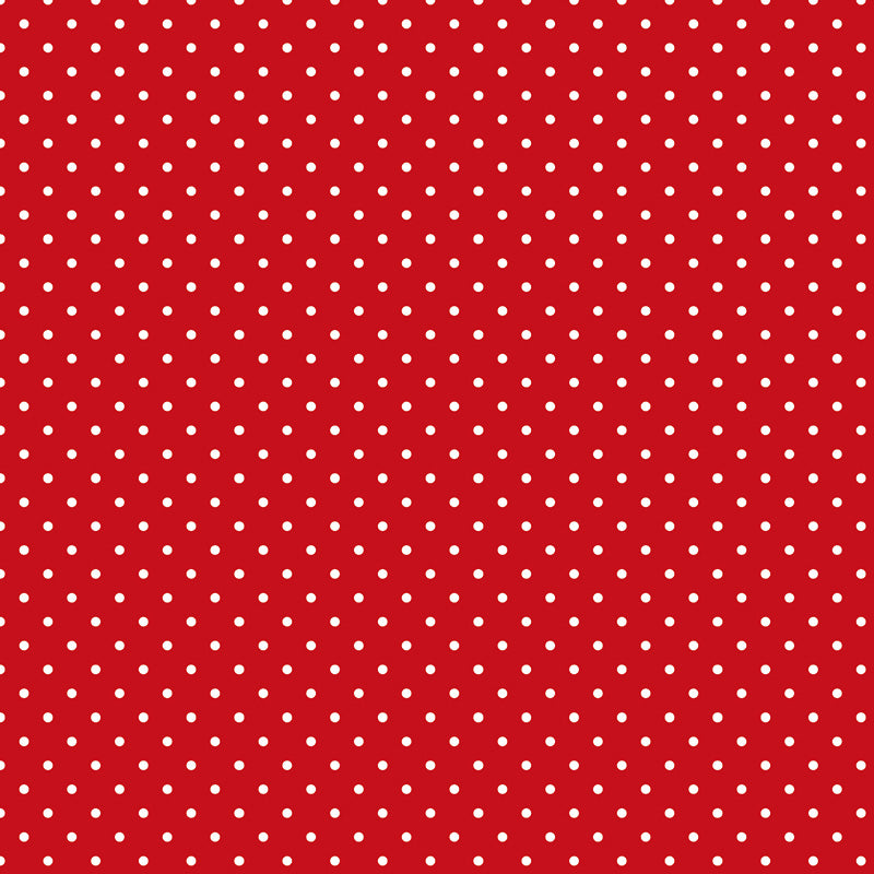 Swiss Dots Red With White Dots