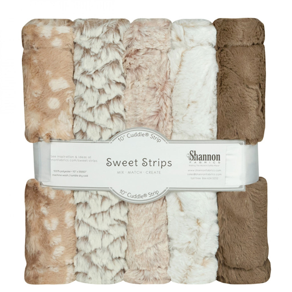 "Luxe Cuddle Sweet Strips 10"" X 60"" Desert from Shannon Fabrics"