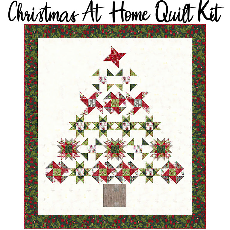 Christmas At Home Quilt Kit with Hustle & Bustle from Moda