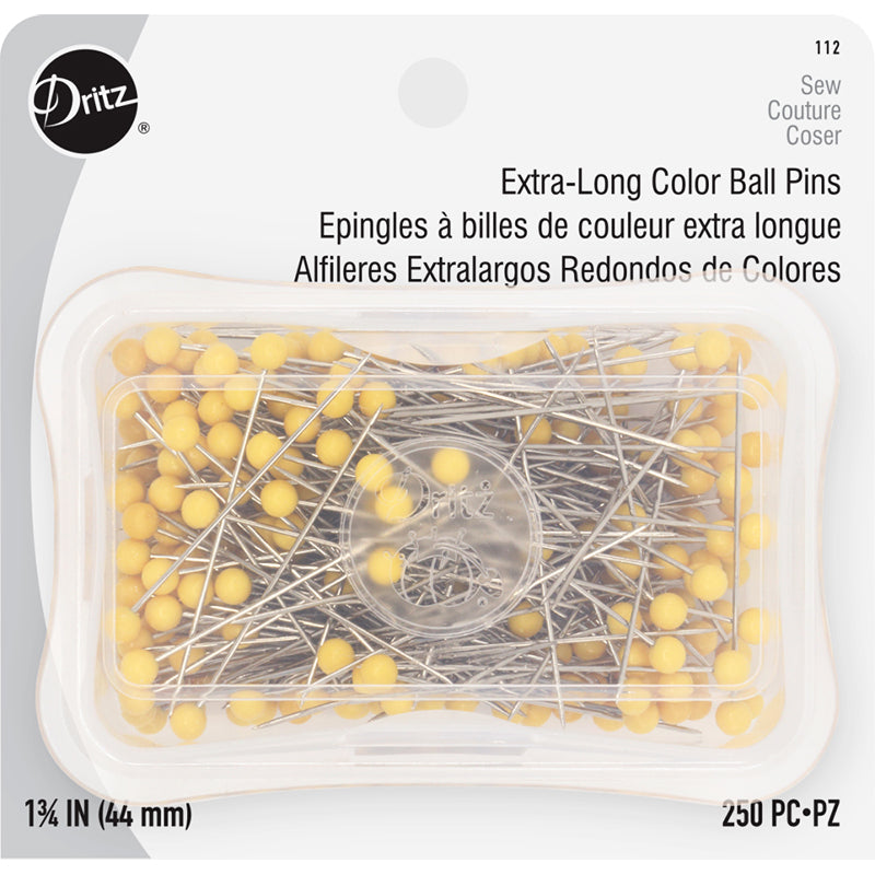 "Dritz Extra Long Color Ball Pins 1.75"" 250 pc"