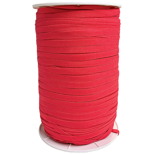 "Hot Red 1/4"" Soft Elastic Latex Free from Moda 5 Yards"