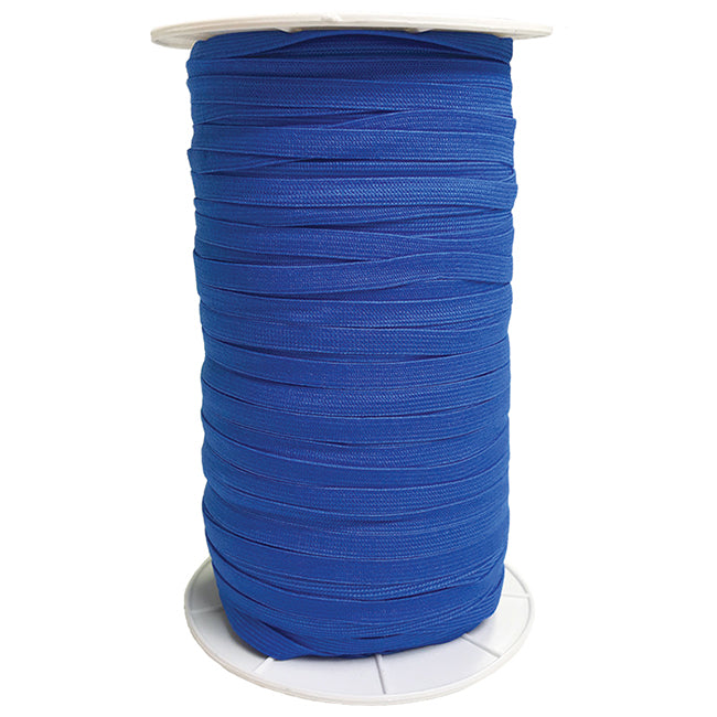 "Electric Blue 1/4"" Soft Elastic Latex Free from Moda 5 Yards"