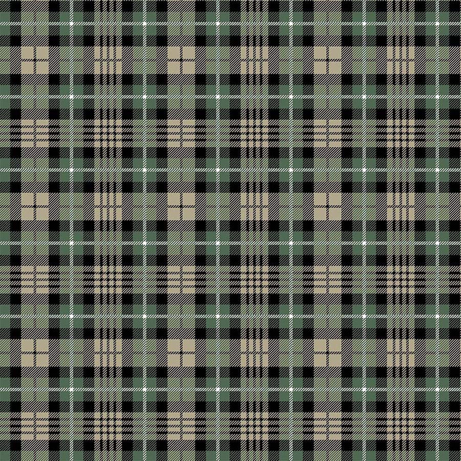 Frosted Forest Dark Plaid Black