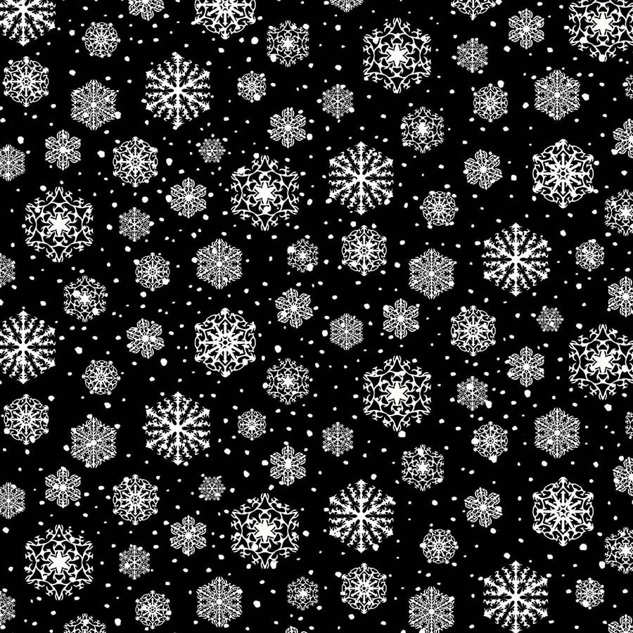 Frosted Forest Snowflakes Black