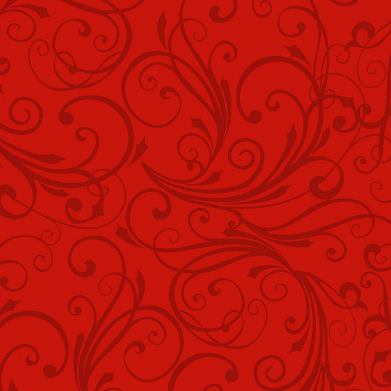 Winter Frost Flannel Swirl Red