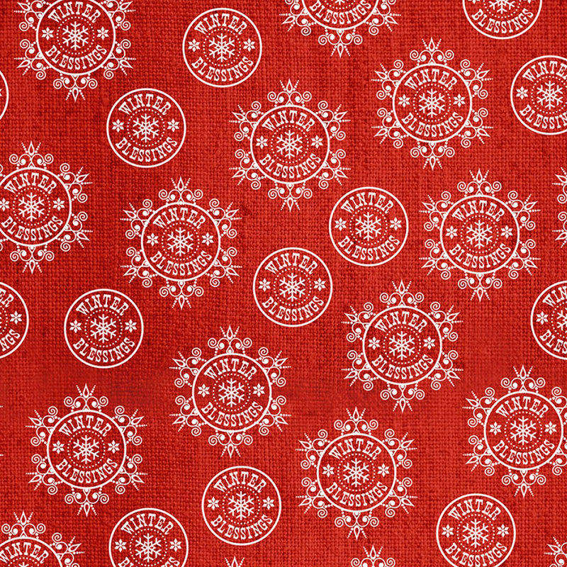 Winter Frost Flannel Snowflakes Red