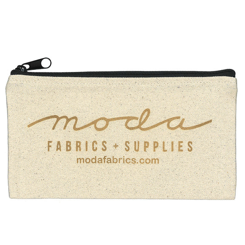 Canvas Zipper Bag with Moda Logo
