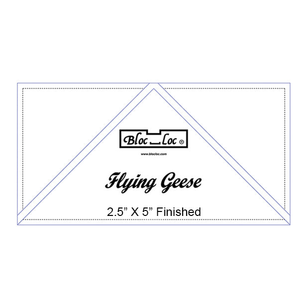 "Bloc Loc Flying Geese Ruler 2.5"" X 5"" Finished"