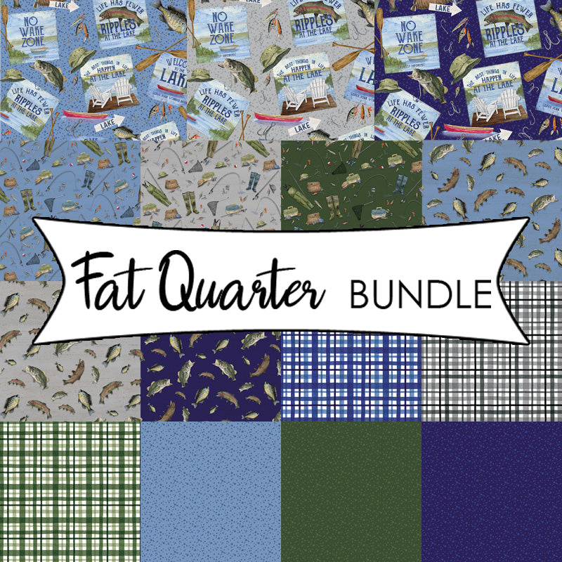 At The Lake Fat Quarter Bundle from Riley Blake