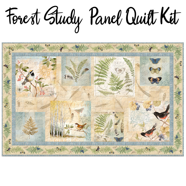 Forest Study Panel Quilt Kit from Wilmington