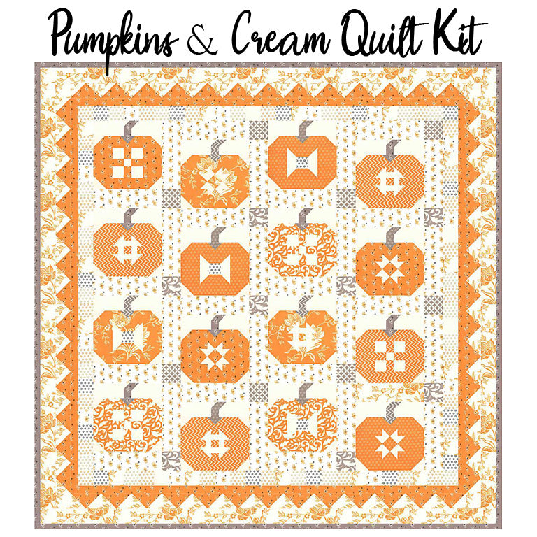 Pumpkins & Cream Quilt Kit with All Hallow's Eve by Fig Tree Quilts