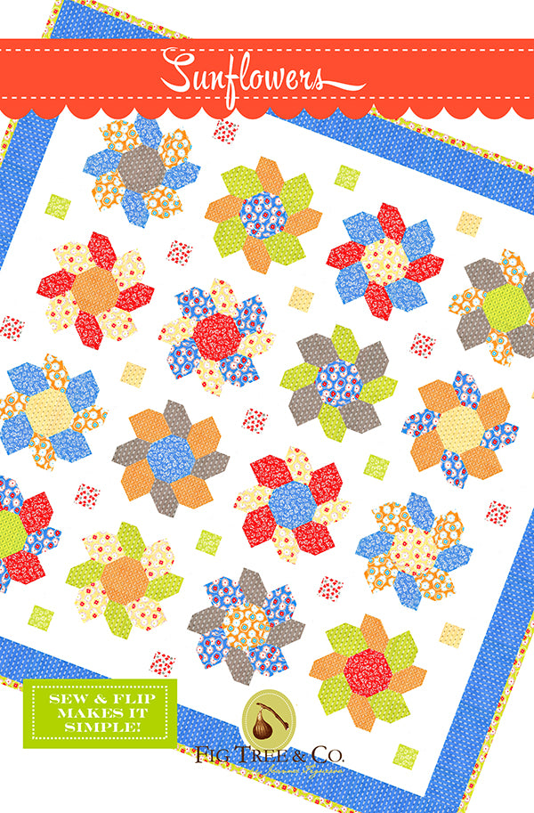 Sunflowers Quilt Pattern by Fig Tree Quilts