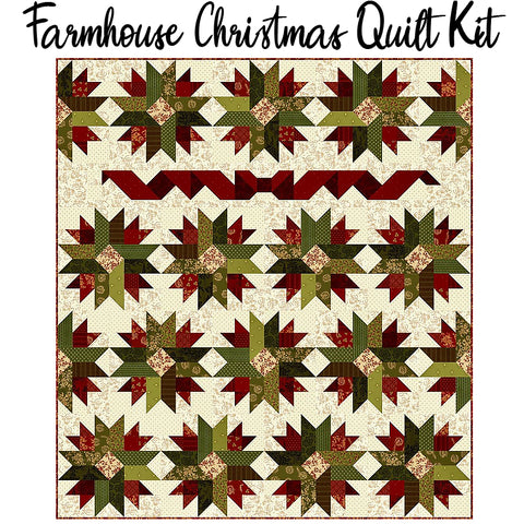 Farmhouse Christmas Quilt Kit from Henry Glass