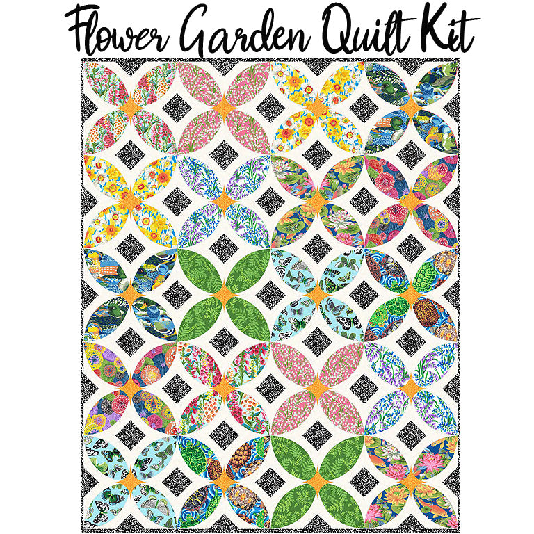 Flower Garden Quilt Kit with Secret Stream from Free Spirit