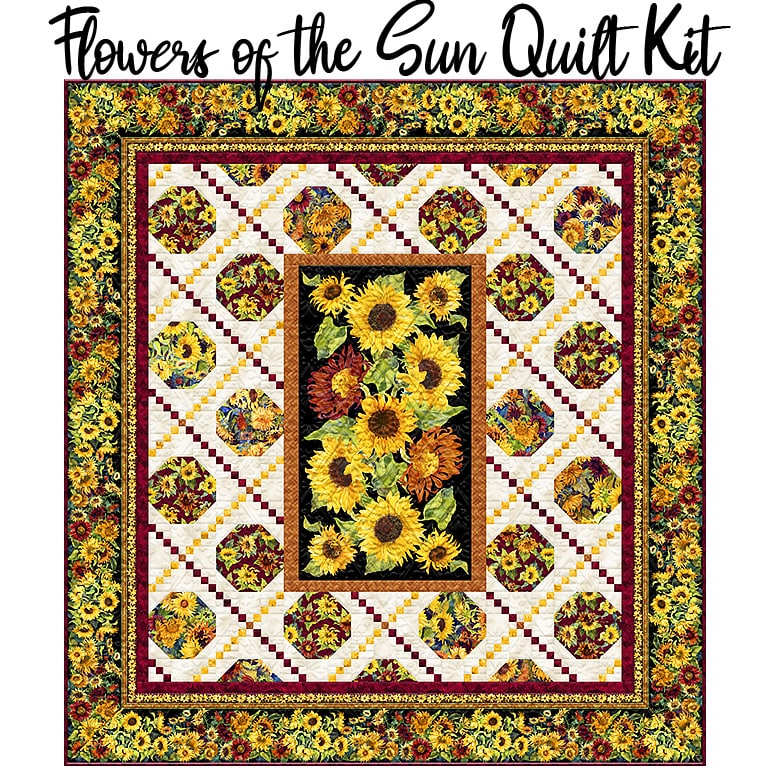 Flowers of the Sun Queen Quilt Kit from Wilmington