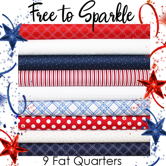 Free to Sparkle Friday Fat Quarter Bundle from Fort Worth Fabric Studio