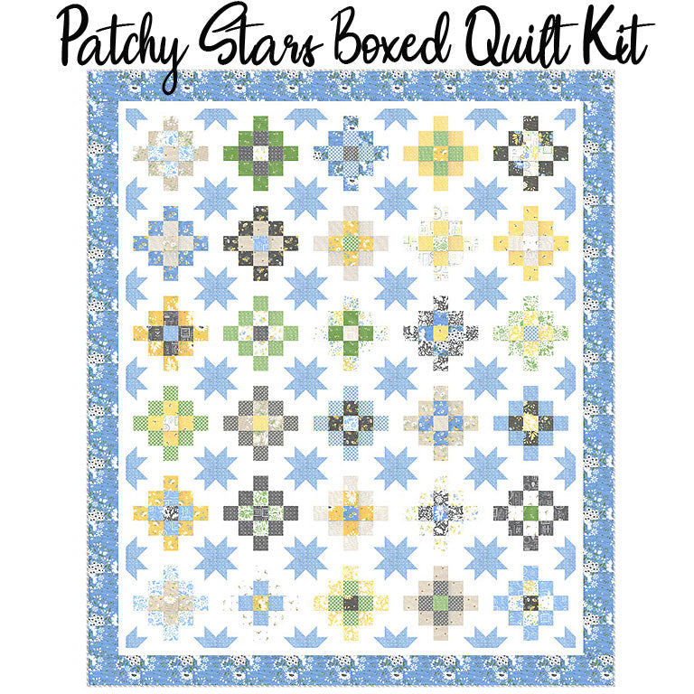 Patchy Stars Boxed Quilt Kit with Spring Brook from Moda