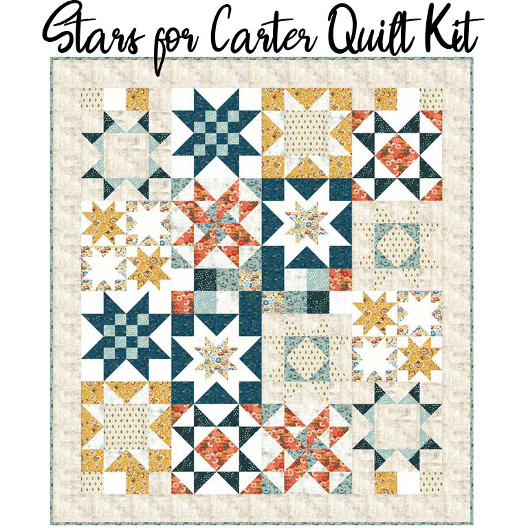 Stars for Carter Boxed Quilt Kit with Cider Fabric from Moda