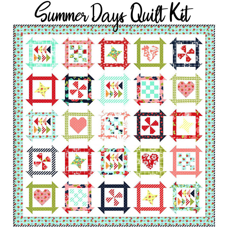 Summer Days Boxed Quilt Kit with Shine On from Moda