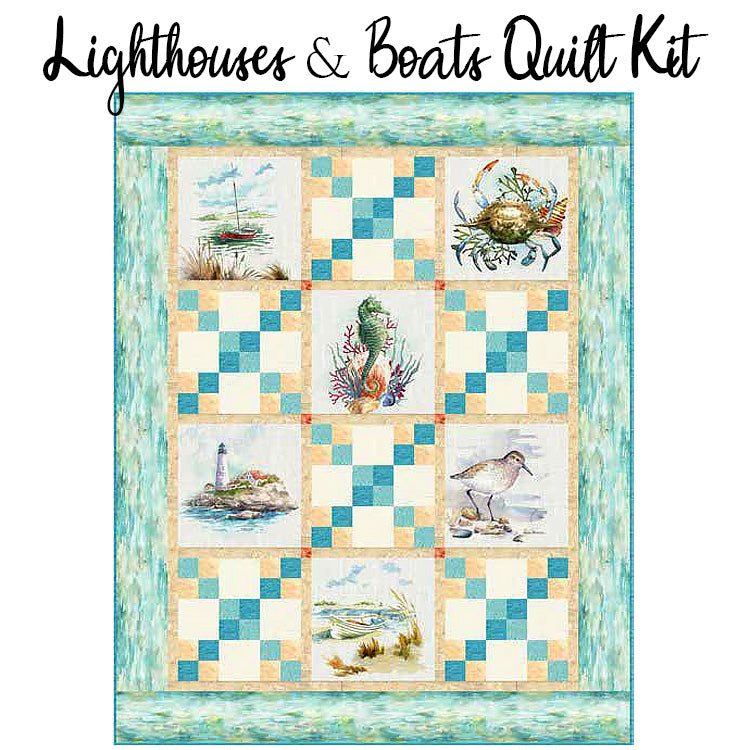 Lighthouses & Boats Quilt Kit from Hoffman