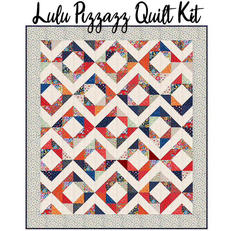 Lulu Pizzazz Quilt Kit with Lulu Fabric from Moda